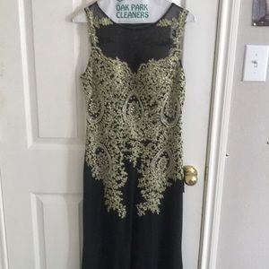 Dresses & Skirts - Black and Gold Prom Dress (ALTERED TO FIT 5'4)